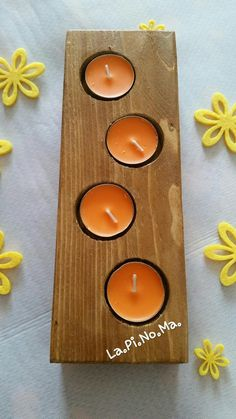 Wood Tea Light Holder, Wooden Candle Holders, Candle Holder Set, Hobby, Tea Lights, Candles, Home Decor, Bricolage, Woodwind Instrument