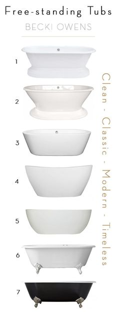 BECKI OWENS- 6 Options for Free-standing Tubs #Bathtubs