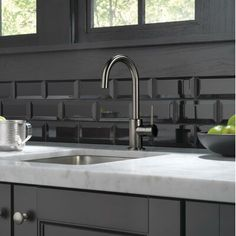 Delta Trinsic Bar Faucet Finish: Black Stainless