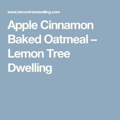 Apple Cinnamon Baked Oatmeal – Lemon Tree Dwelling