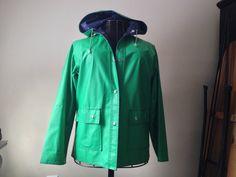 Vintage raincoat coat water proof heart lining by rustandmoth, $50.00