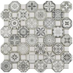 Creating a union of old-fashioned elegance and modern artistry is no simple task and yet, the Edredon does so beautifully. The Edredon Gray has a variety of gray old-world patterns and a light stone look in an assortment of small squares and octagons.