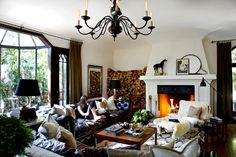eclectic boho living room with beni ourain berber rug
