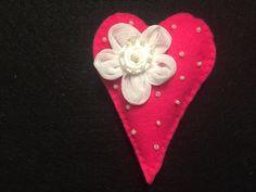 Felt Heart ornament