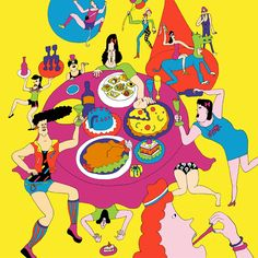 Wakana Yamazaki illustration 2010 Character Illustration, Cute Illustration, Freelance Illustrator, Japan Art, Psychedelic Art, Illustrations And Posters, Designs To Draw, Cute Art, Art Inspo