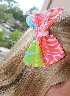 Lilly Pulitzer Hair Bow LIMITED EDITION. $9.00, via Etsy.