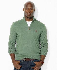Polo Ralph Lauren Big and Tall Sweater, Half-Zip Lightweight Sweater - Mens  Big \u0026 Tall - Macy\u0027s; Size 2XL