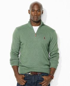 Polo Ralph Lauren Big and Tall Sweater, Half-Zip Lightweight Sweater - Mens Big & Tall - Macy's; Size 2XL