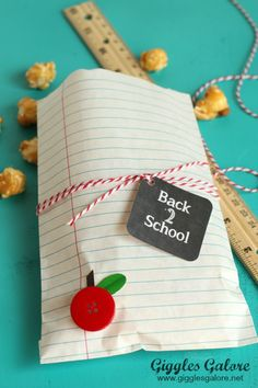 Notebook Paper Bags - School Treat - Giggles Galore