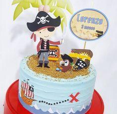 Topo de bolo ou Cake Topper - Tema de Pirata