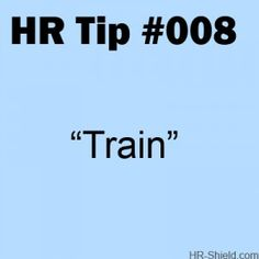 hr tip 008 - Train - I'm big on this one!