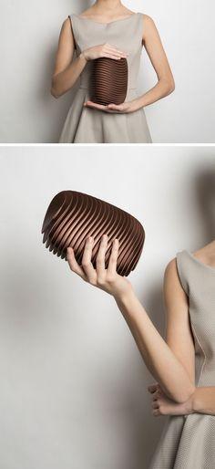 Abgerundete, Geschwungene Schichten 3D Gedruckte Nylon Machen Das Design  Dieser Modernen Kupplung Und Das Layout