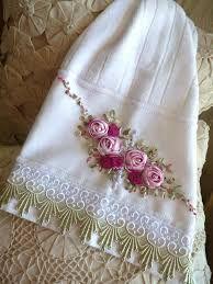 Resultado de imagem para pinterest como bordar toallas con cinta