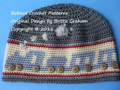 Crochet Hat Pattern - Boys Choo Choo Train Hat Pattern No.402 uses DK (AUS 8ply) weight yarn on Etsy, $4.00