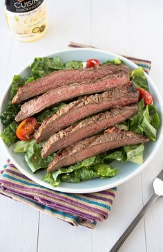 Easy Grilled Steak Salad from handletheheat.com