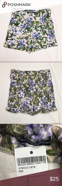 Purple Floral Shorts NWT Light Pink Green and Purple Super Soft High Waisted Shorts  One Size-- (fits more like a XS, Small, or Medium)--- stretchy  ❗️Price Firm. No Trades.❗️ Brandy Melville Shorts