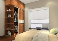 Classy Wooden Bedroom Wardrobe Design