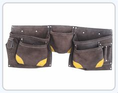 Suede Leather Apron 5 Large Pockets for nails & 4 pockets for small tools Reinforced corners for durability