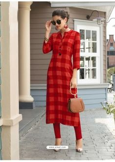 for latest and in different style. Buy this angelic rayon casual kurti for casual. Get a transformed look with . Printed Kurti Designs, Salwar Designs, Kurti Neck Designs, Kurta Designs Women, Kurti Designs Party Wear, Blouse Designs, Latest Kurti Designs, Stylish Kurtis, Trendy Kurti