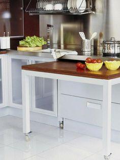 Als je een kleine keuken hebt of een groter werkblad nodig hebt is dit de perfecte oplossing