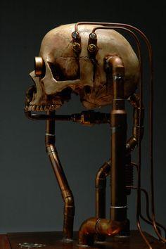 cyborg robot head