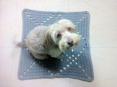 DIY tutorial how to crochet square rug granny square t-shirt yarn