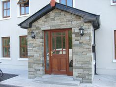 Here you can view a selection of stone houses I have constructed. If you would like further information or would be interested in hiring me as a stonemason then please feel free to contact me. Stone Houses, Restoration, Garage Doors, Shed, Construction, Outdoor Structures, Outdoor Decor, Front Porches, Ireland