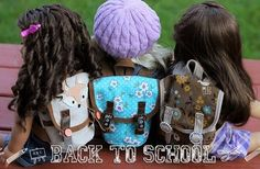 American Girl Doll Free Backpack Sewing Pattern. Adorable accessory every AG doll needs!