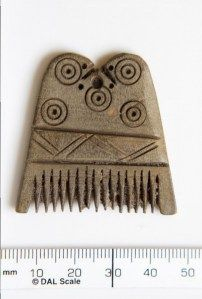 Irish comb 7th century, deer antler, Fermanagh County Museum