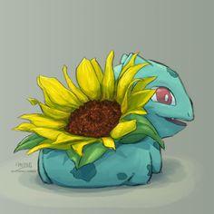 #sunflower #bulbasaur #pokemon