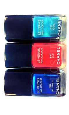 Chanel makes a bold  statement with its nail polish color choices for Summer 2013 #Nails