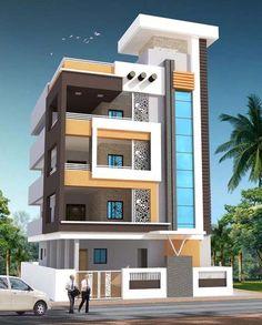 Best Home Exterior Design Ideas House Outer Design, House Outside Design, House Front Design, Narrow House Designs, Modern Exterior House Designs, Exterior Design, 3 Storey House Design, Bungalow House Design, Modern Bungalow
