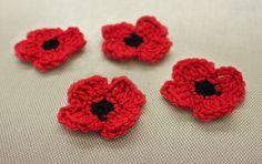 Ravelry: Remembrance Poppy pattern by Patons #free #crochet
