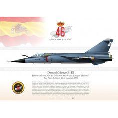 """SPANISH AIR FORCE . EJÉRCITO DEL AIREEjército del Aire, Ala 46. Escuadrón 462 de caza y ataque """"Halcones""""Base Aérea de Gando (Gran Canarias), 1984"""