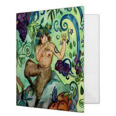 Hymn to Pan 3 Ring Binder Butterfly Fairy, Blue Fairy, Beltane, Custom Greeting Cards, Custom Posters, Custom Framing, Fantasy, Illustration, Happy