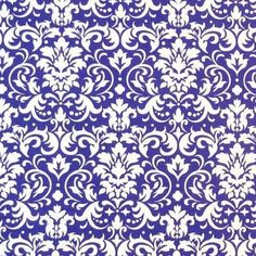 Sheetworld Damask Fabric By The Yard Color: Purple