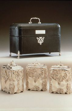 Tea Caddy. English (London). Paul de Lamerie, 1751–52. Silver (sterling standard)