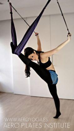 Aerial Yoga.  AERO PILATES©  Clases y Formación, España by yogacreativo, via Flickr