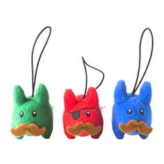 Bunnies with mustaches :3