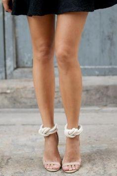 Rope Heels via Vogue Australia Trendy Sandals, Diy Couture, Vogue Australia, Diy Clothing, Mode Inspiration, Diy Fashion, Fashion Design, Me Too Shoes, Shoe Boots