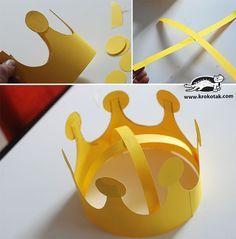 Crowns for spring party - Einstecktücher Fun Games For Kids, Indoor Activities For Kids, Diy For Kids, Crafts For Kids, Children Activities, Fun Arts And Crafts, Diy And Crafts, Paper Crafts, Paper Hat Diy