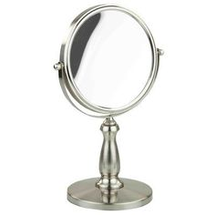 Home Basics Satin Nickel Cosmetic Mirror, Multicolor Wall Mirrors With Hooks, Wall Mounted Makeup Mirror, Classic Wall Mirrors, Round Wall Mirror, Mirror Set, Modern Contemporary Bathrooms, Cosmetics