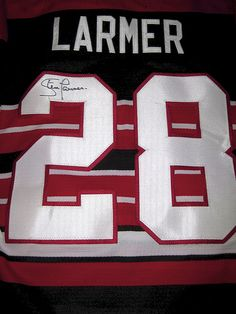 Steve Larmer Autographed Jersey - my CCM 1992 NHL Anniversary Blackhawks  jersey which was signed at the Convention. Debbie Moore · Chicago Blackhawks 6e80e474d