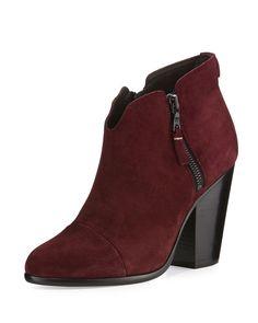 Margot Suede Ankle Boot, Burgundy, Burgundy Suede - Rag & Bone