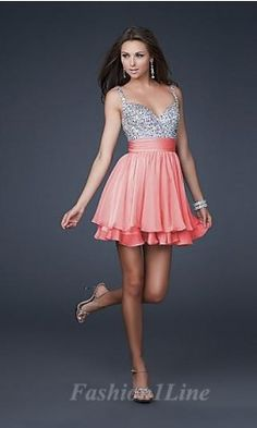 prom dress — sparkle top and pink skirt
