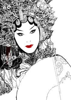 'Farewell My Concubine, 覇王別姬' illust : 네이버 블로그