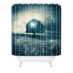 Viviana Gonzalez Energy From The Blue Tree Shower Curtain   DENY Designs Home Accessories  #DENYWISHLIST