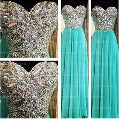 Tiffany prom dress, blue prom dress, rhinestone prom dress, 2015 prom dress, cheap prom dresses, sexy prom dress, 16195