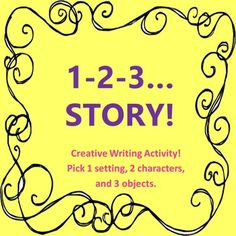 This is a creative, narrative writing activity. Students choose one setting, two characters, and three objects from the lists provided. Then, they write a story using the six elements. This is a great activity for students to practice narrative writing when you have a substitute or as an activity in a literacy center.