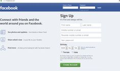 Login Sign up to Facebook with just few steps